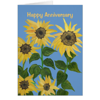 Sunflower Anniversary Card