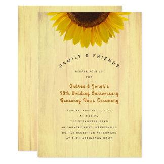 Sunflower Anniversary Reaffirming Vows Invitation