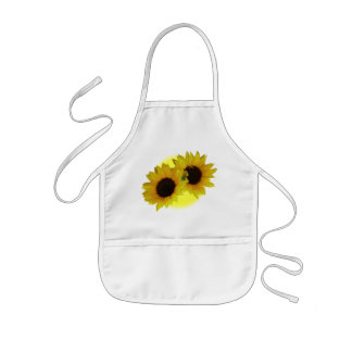 Sunflower Apron Cheeful Kid's Sunflower BBQ Apron