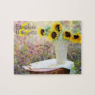 Sunflower Arrangement Sunshine & Happiness Jigsaw Puzzle