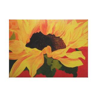 Sunflower at sunset canvas print