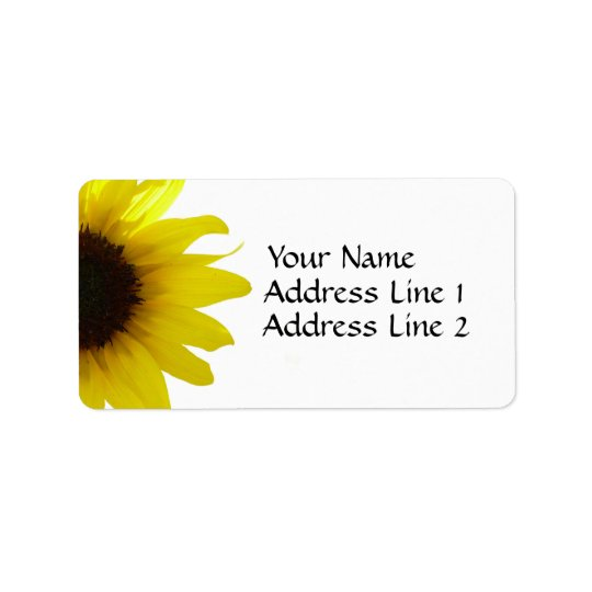 Sunflower Avery Address Label