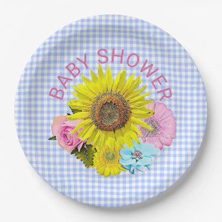 Sunflower Baby Shower  Paper Plates