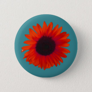 Sunflower Badge (Orange and Teal)