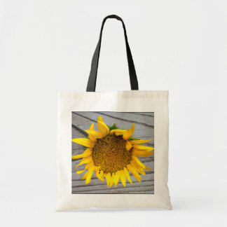Sunflower Bag with barn wood
