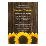 Sunflower Barn Wood Bridal Shower Custom Invites