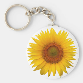 Sunflower Basic Round Button Key Ring