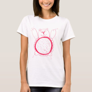 Sunflower Bear Womens Round-Neck T-Shirt