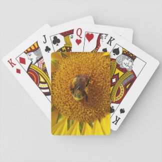 Sunflower & Bee Playing Cards