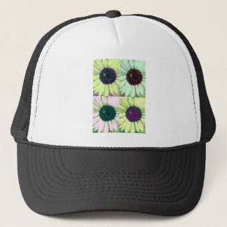 Sunflower Bee Pop Trucker Hat