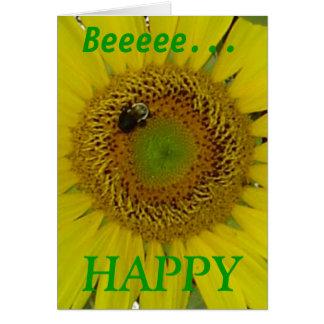 Sunflower Bee Pretty Greeting Card