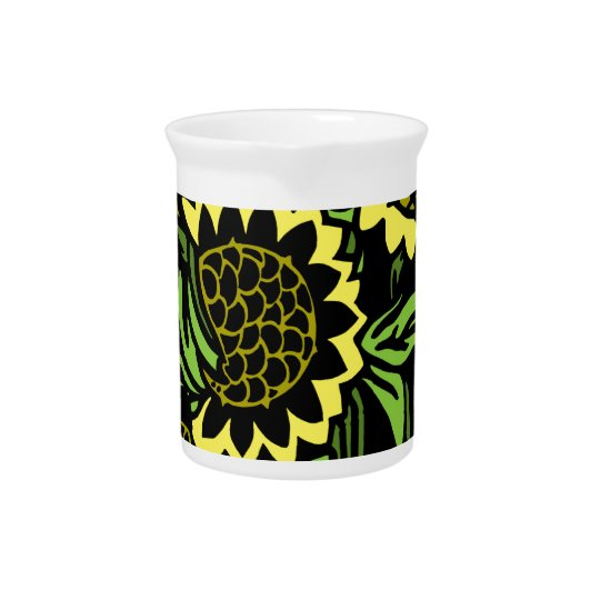 Sunflower Beverage Pitcher