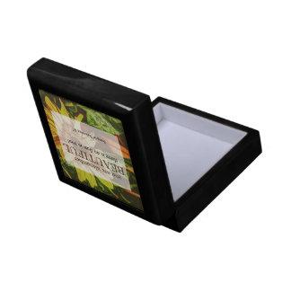 Sunflower & Bible Verse Design Gift Box