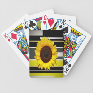 Sunflower Bicycle Playing Cards