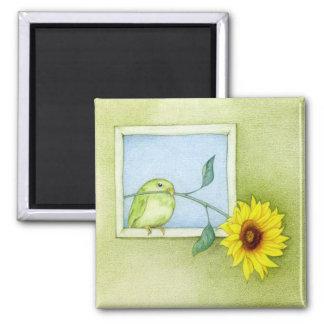 Sunflower Bird Magnet