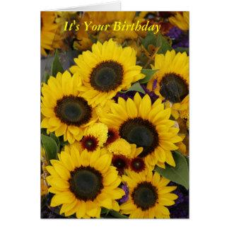 Sunflower Birthday Card