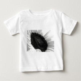 Sunflower Black and White Photograph Baby T-Shirt
