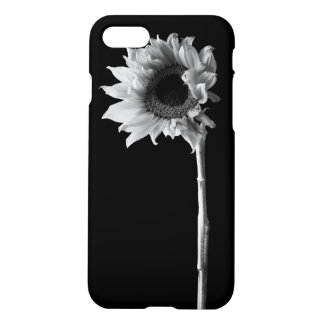Sunflower - Black and White Photograph iPhone 7 Case