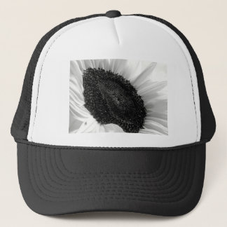 Sunflower Black and White Photograph Trucker Hat