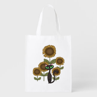 Sunflower Black Cat