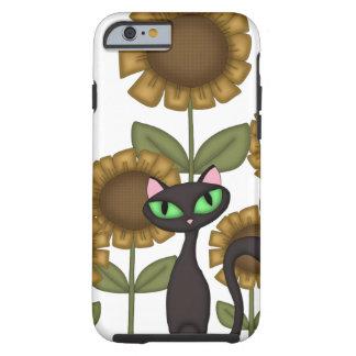 Sunflower Black Cat Tough iPhone 6 Case