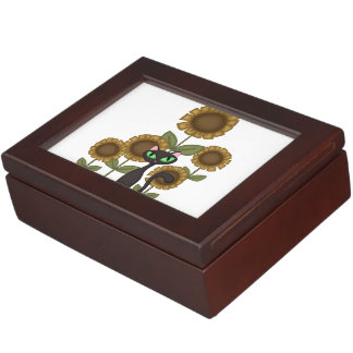 Sunflower Black Cats Keepsake Box