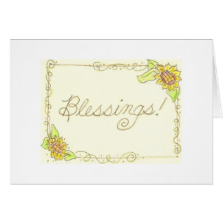 Sunflower Blessings! Card