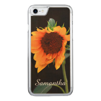 Sunflower bloom carved iPhone 8/7 case