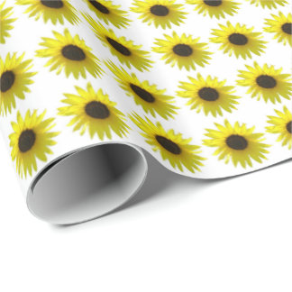 Sunflower Bloom Pattern Wrapping Paper