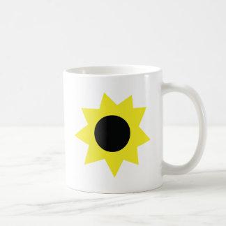 sunflower blossom icon coffee mugs