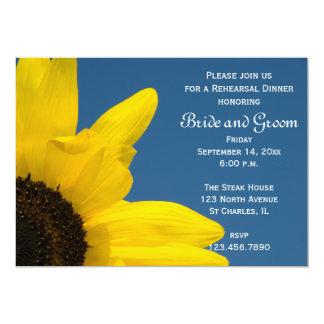 Sunflower Blue Sky Wedding Rehearsal Dinner Invite