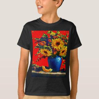 Sunflower,blue vase Still Life Red Gifts T-Shirt