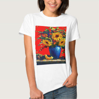 Sunflower,blue vase Still Life Red Gifts T Shirts