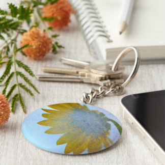 Sunflower Blues Key Chain
