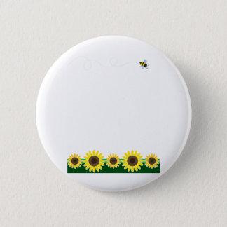 Sunflower Border 6 Cm Round Badge