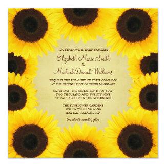 Sunflower Border Wedding Card