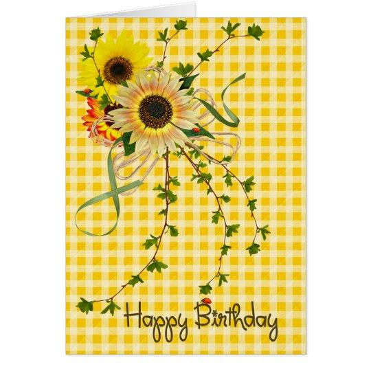 sunflower bouquet for birthday card