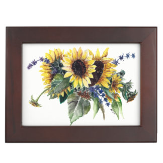 Sunflower Bouquet Keepsake Box