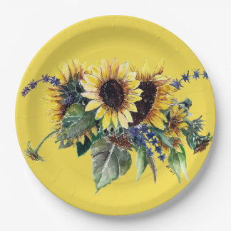Sunflower Bouquet Paper Plate