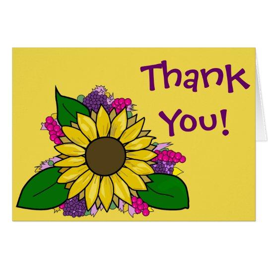 Sunflower Bouquet - Thank You Card