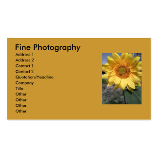 Sunflower Buisness Cards. Pack Of Standard Business Cards
