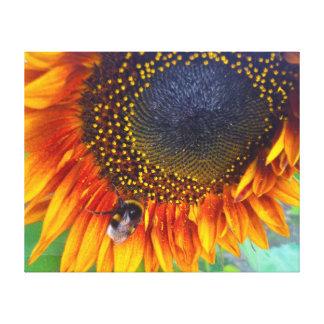 Sunflower&Bumblebee Canvas Print