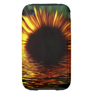 Sunflower-burst Over Water iPhone 3 Tough Cover