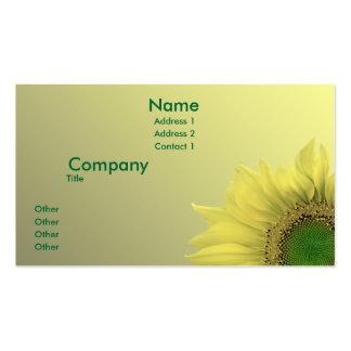 Sunflower Business Card Templates