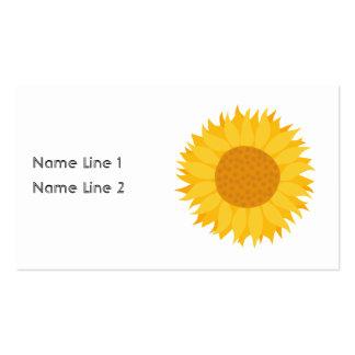Sunflower. Business Card Templates