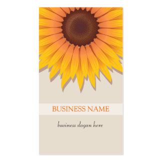 Sunflower Business Pack Of Standard Business Cards
