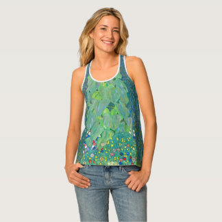 Sunflower by Klimt, Vintage Flowers Art Nouveau Tank Top
