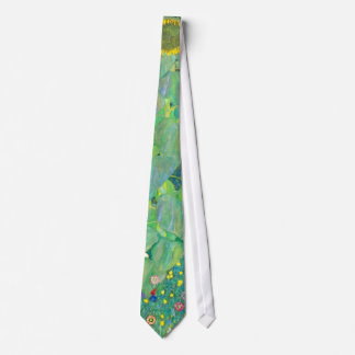 Sunflower by Klimt, Vintage Flowers Art Nouveau Tie
