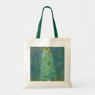 Sunflower by Klimt, Vintage Flowers Art Nouveau Tote Bag