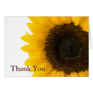 sunflower by Petr Kratochvil, Thank You Note Card